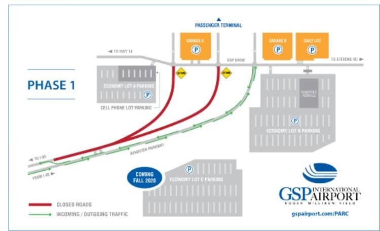 GSP Road Construction Map